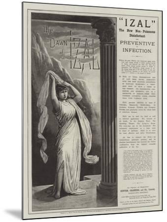 Advertisement, Izal--Mounted Giclee Print