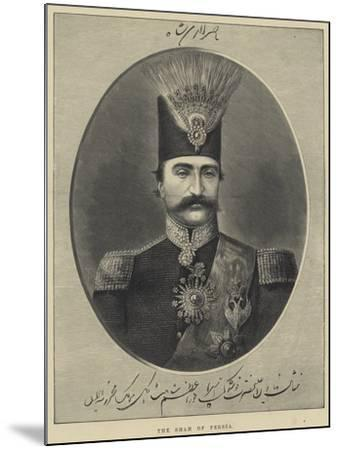 The Shah of Persia--Mounted Giclee Print
