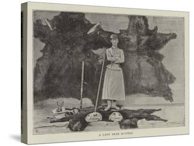 A Lady Bear Hunter--Stretched Canvas Print