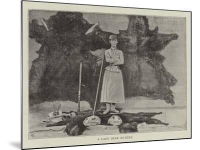 A Lady Bear Hunter--Mounted Giclee Print