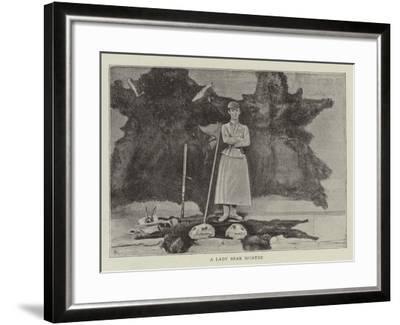 A Lady Bear Hunter--Framed Giclee Print