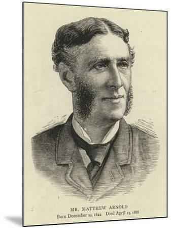 Mr Matthew Arnold--Mounted Giclee Print