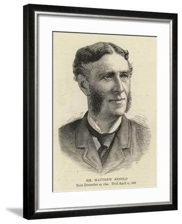 Mr Matthew Arnold--Framed Giclee Print