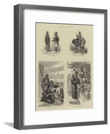 Sketches in Cairo--Framed Giclee Print