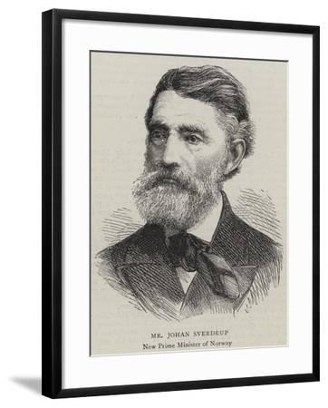 Mr Johan Sverdrup--Framed Giclee Print