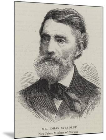 Mr Johan Sverdrup--Mounted Giclee Print