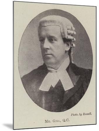 Mr Gill, QC--Mounted Giclee Print