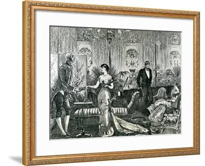 Music at Home--Framed Giclee Print
