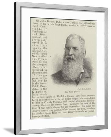 Sir John Dunne--Framed Giclee Print