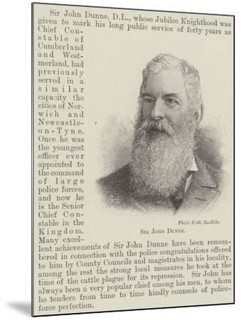 Sir John Dunne--Mounted Giclee Print