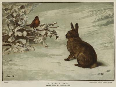 A Winter Song--Framed Giclee Print