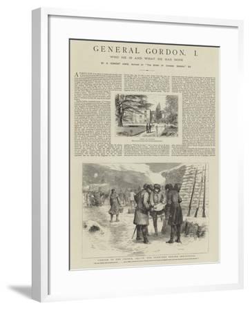 General Gordon--Framed Giclee Print
