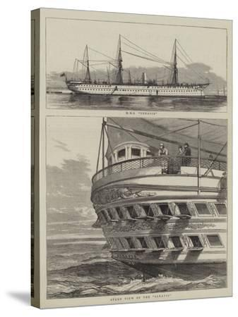 HMS Serapis--Stretched Canvas Print