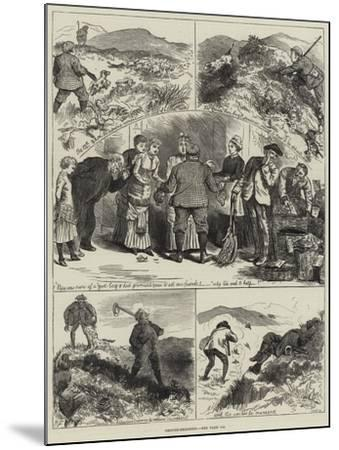 Grouse-Shooting--Mounted Giclee Print