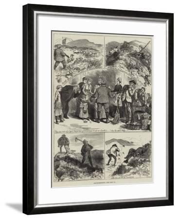 Grouse-Shooting--Framed Giclee Print