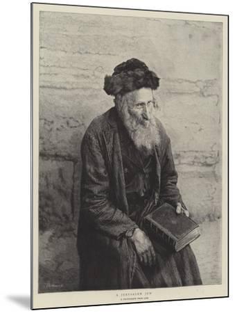 A Jerusalem Jew--Mounted Giclee Print