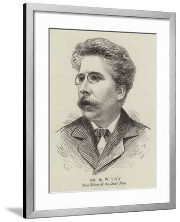 Mr H W Lucy--Framed Giclee Print