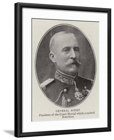 General Roget--Framed Giclee Print