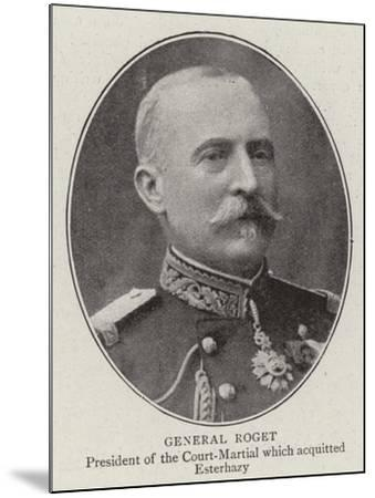 General Roget--Mounted Giclee Print