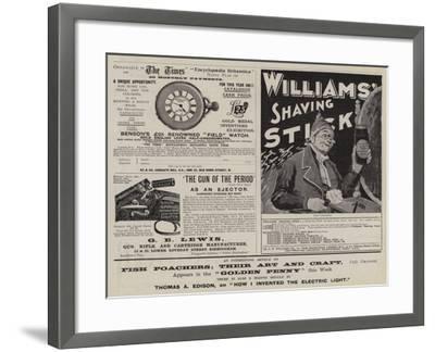 Advertisements--Framed Giclee Print