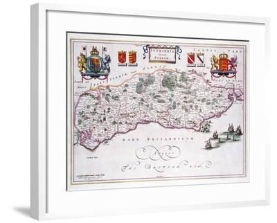 Map of Sussex--Framed Giclee Print
