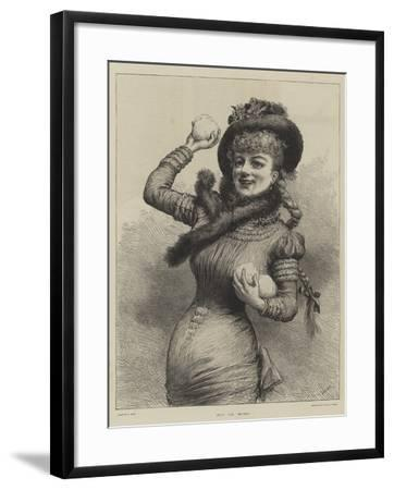 Hit or Miss?--Framed Giclee Print