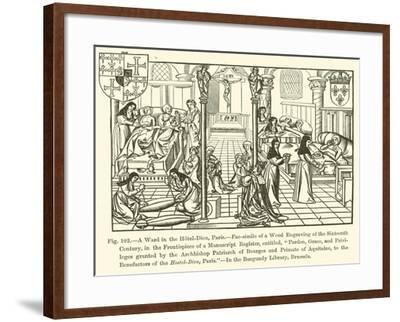 A Ward in the Hotel-Dieu, Paris--Framed Giclee Print