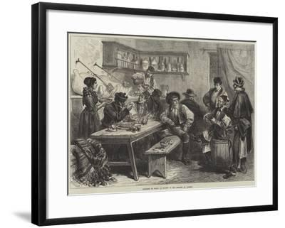 Sketches in Spain, a Tavern in the Suburbs of Madrid--Framed Giclee Print