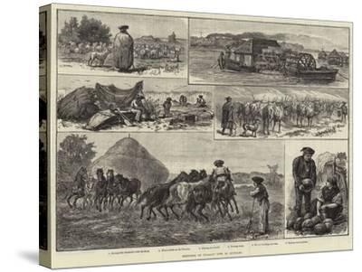 Sketches of Peasant Life in Hungary--Stretched Canvas Print