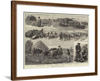 Sketches of Peasant Life in Hungary--Framed Giclee Print