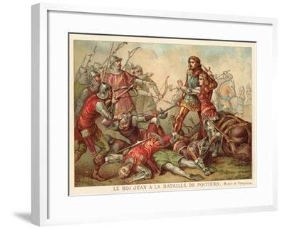 Capture of John II of France at the Battle of Poitiers, 1356--Framed Giclee Print