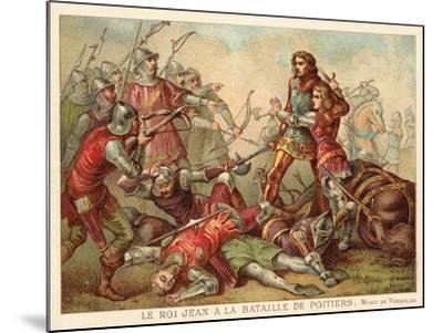 Capture of John II of France at the Battle of Poitiers, 1356--Mounted Giclee Print