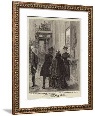The Queen at Cimiez--Framed Giclee Print
