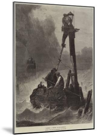 Lighting a Beacon--Mounted Giclee Print