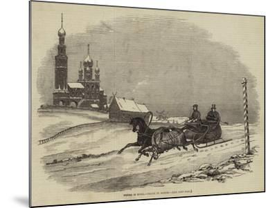 Winter in Russia--Mounted Giclee Print