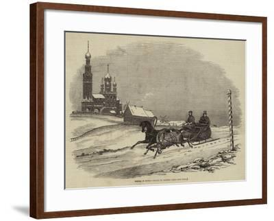 Winter in Russia--Framed Giclee Print