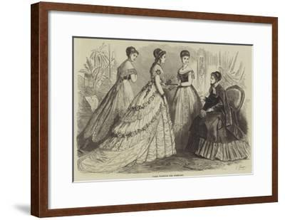 Paris Fashions for February--Framed Giclee Print