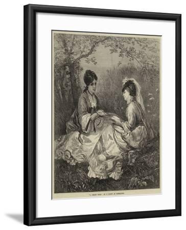 A Shady Nook--Framed Giclee Print