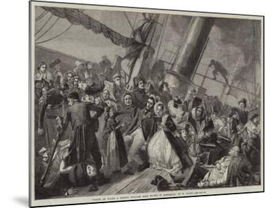Scene on Board a French Steamer from Havre to Honfleur--Mounted Giclee Print