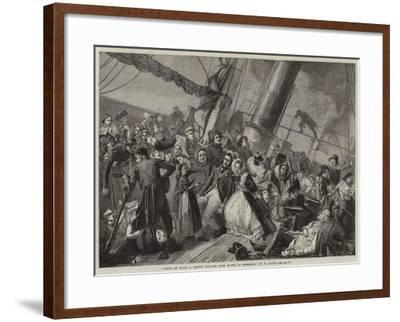 Scene on Board a French Steamer from Havre to Honfleur--Framed Giclee Print