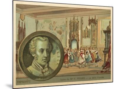 Scene from Carl Maria Von Weber's Opera Der Freischutz--Mounted Giclee Print