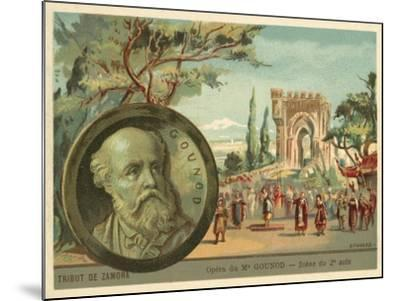 Scene from Charles Gounod's Opera Le Tribut De Zamora--Mounted Giclee Print
