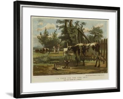 A Taste for the Fine Arts--Framed Giclee Print