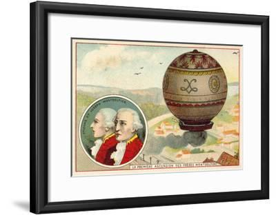 The Montgolfier Brothers First Balloon Ascent, 1783--Framed Giclee Print