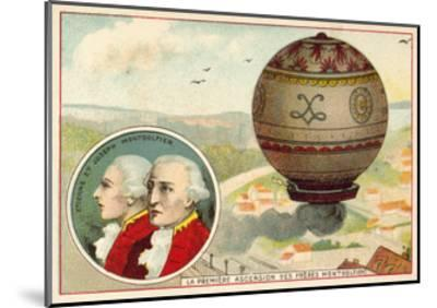 The Montgolfier Brothers First Balloon Ascent, 1783--Mounted Giclee Print
