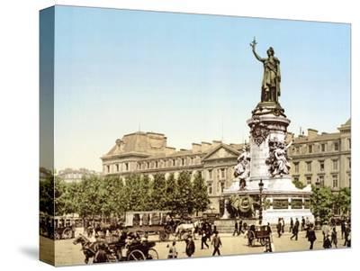 Place De La Republique, Paris, Pub. 1900--Stretched Canvas Print