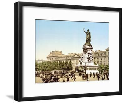 Place De La Republique, Paris, Pub. 1900--Framed Giclee Print