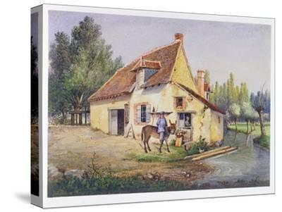 Farm in the Epernay Region, C.1850--Stretched Canvas Print