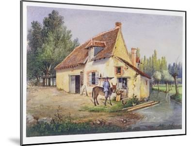 Farm in the Epernay Region, C.1850--Mounted Giclee Print