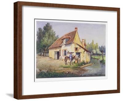 Farm in the Epernay Region, C.1850--Framed Giclee Print